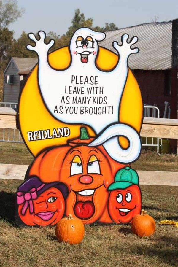 Reid's Orchard says, leave with as many kids as you brought